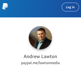 Support Andrew Lawton on PayPal